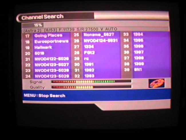 Channel search, SFT-2000 searching channels